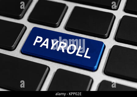payroll button on keyboard - Stock Photo