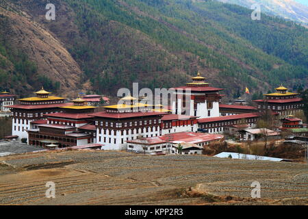 Tashichho Dzong in Thimphu - Stock Photo
