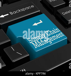 Supply chain management concept 3D Render - Stock Photo