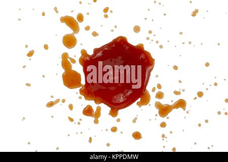 ketchup stain - Stock Photo