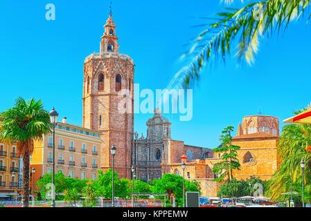 Square, Plaza of the Queen  (Placa de la Reina) and La Escuraeta, Crafts Market before the Seville Cathedral. - Stock Photo