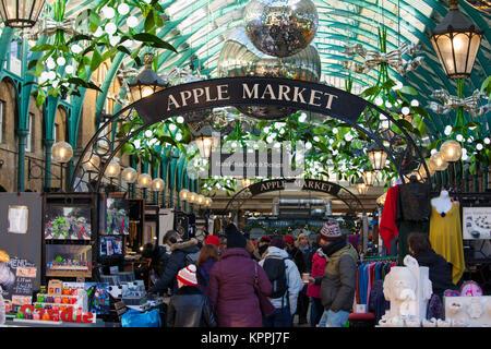 London Covent Garden Market hand painted glass seasonal Christmas ...