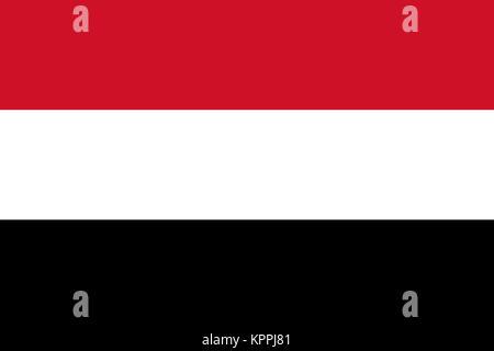 National flag of Yemen - Stock Photo