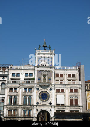 Venice - The Torre dell'Orologio on St Mark's Square. The Torre dell'Orologio (Clock Tower) on St Mark's Square - Stock Photo