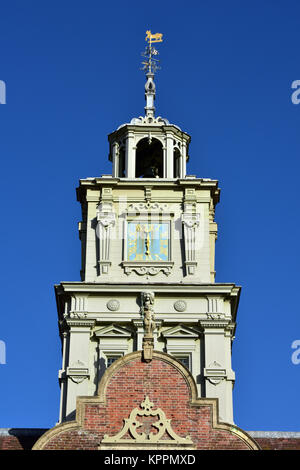 the central clock tower on Blickling hall in Norfolk near Norwich. National trust sites in Norfolk and visitor tourist - Stock Photo