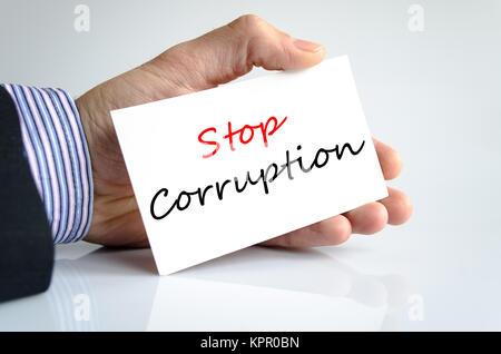 Stop corruption text concept - Stock Photo
