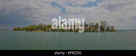view of frauenchiemsee,chiemgau,upper bavaria - Stock Photo