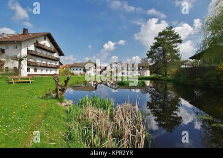 view of breitbrunn,chiemgau,upper bavaria - Stock Photo