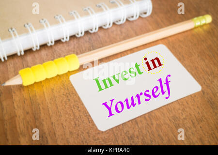 Invest in yourself. Inspire quote about education - Stock Photo