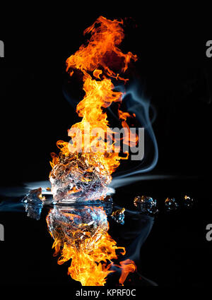 fire and ice - Stock Photo