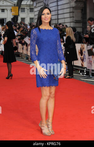 Linzi Stoppard attends The Other Woman UK Gala Premiere at the Curzon Mayfair in London. 2nd April 2014 © Paul Treadway - Stock Photo
