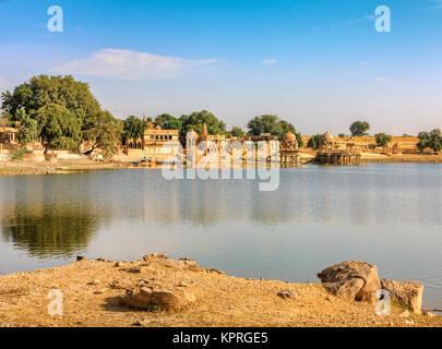 Gadi Sagar (Gadisar),Jaisalmer, Rajasthan, India, Asia - Stock Photo
