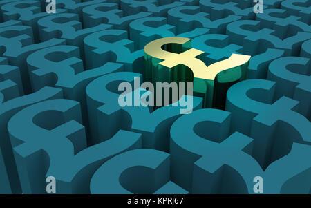 Pound Sterling Symbols pattern - Stock Photo