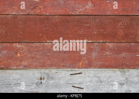 Red vintage painted wooden planks panel - Stock Photo