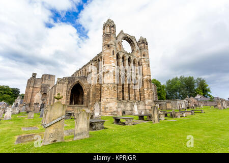 Ruins of the old Elgin Cathedral located in the north-east of Scotland (The Moray Council). - Stock Photo