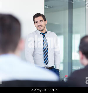 Relaxed informal business team office meeting. - Stock Photo