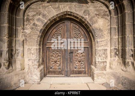 Church or castle door - Stock Photo