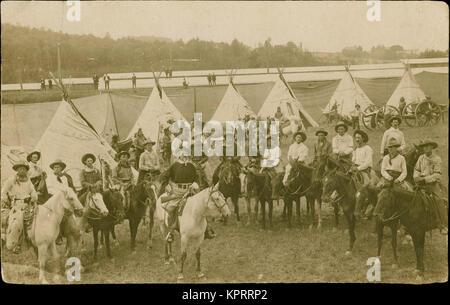 101 Ranch & Buffalo Bill Wild West Show, Circa 1900S. - Stock Photo
