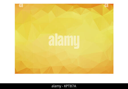 Abstract background pattern of yellow polygons overlaid in gradient color from orange on the edges to light yellow - Stock Photo