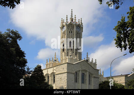 the clock tower at the university of auckland new zealand Stock Photo