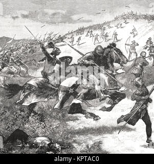 Charge of the Scots, Battle of Homildon Hill, 14 September 1402 - Stock Photo
