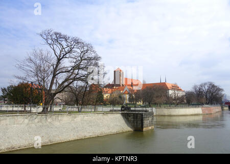 church of st. mary on the sand in wroclaw - Stock Photo