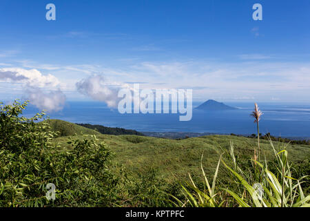 Coastline in front of Manado with islands, Sulawesi, Indonesia - Stock Photo