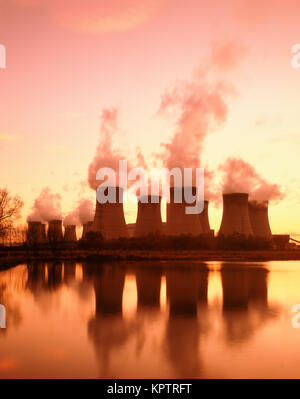 Coal fired Power Station, Drax, Yorkshire, England, UK - Stock Photo