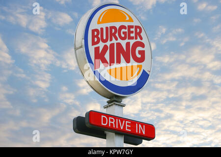 Drive In Burger King fast food restaurant in Mansfield ...