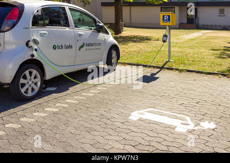 WETTENBERG, GERMANY SEPTEMBER 2016: NATURSTROM is a German energy suppliers provider, also rental cars based in - Stock Photo