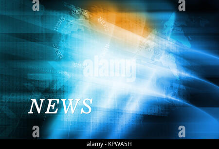 Graphical modern digital world news background Concept Series 02 - Stock Photo
