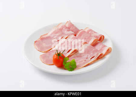 slices of bacon - Stock Photo