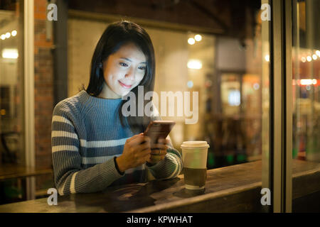 Woman drink of coffee - Stock Photo