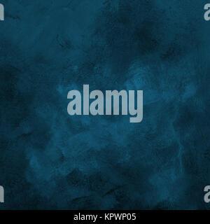 Dark blue grunge paint strokes background - Stock Photo