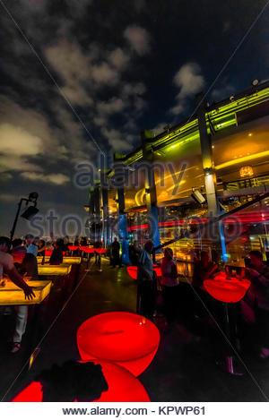 The Chill Skybar on the  25th floor of AB Tower, which has tremendous panoramic views over the city, District 1, - Stock Photo
