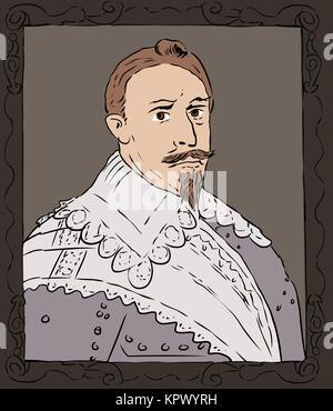 King Gustav II Adolf of Sweden - Stock Photo