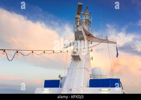 ship radar tower - Stock Photo