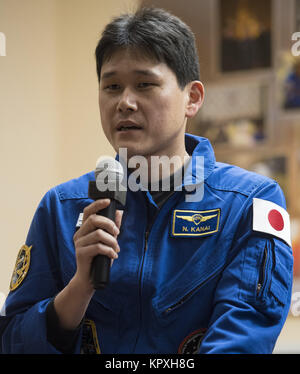Baikonur, Kazakhstan. 16th Dec, 2017. Expedition 54 flight engineer Norishige Kanai of Japan Aerospace Exploration - Stock Photo