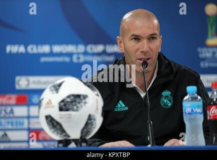 Zayed Sports City Stadium, Abu Dhabi, United Arab Emirates. 15th Dec, 2017. Zinedine Zidane (Real), December 15, - Stock Photo