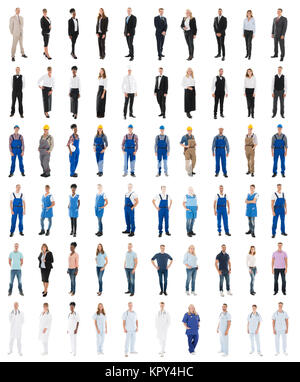 Set Of People With Various Occupations - Stock Photo