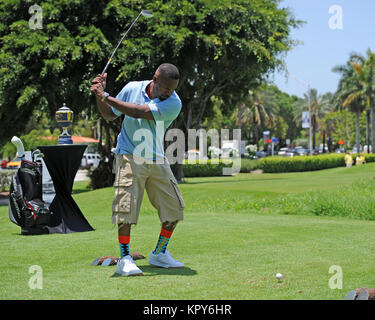 MIAMI BEACH, FL - JUNE 20:  Jamie Fox attends Celebrity Golf Tournament during DJ Irie Weekend at Miami Beach Golf - Stock Photo