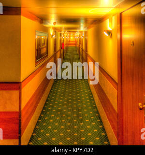 Hotel aisle - shining movie like - Stock Photo