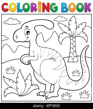 Coloring Book Dinosaur Theme 4