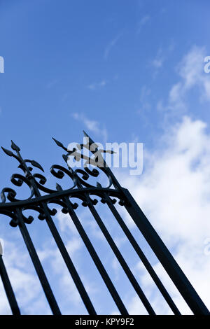 Opening a gate in a park