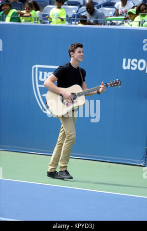 NEW YORK, NY - AUGUST 23:  Guest attends Arthur Ashe kids day on Arthur Ashe Stadium Court at the USTA Billie Jean - Stock Photo