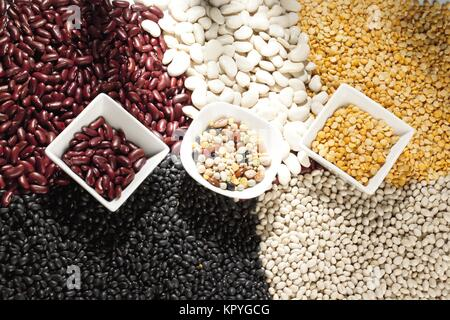 overhead view of cereal - Stock Photo