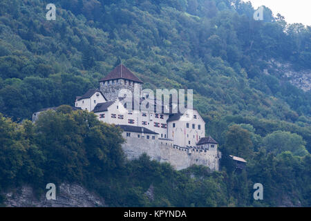 Vaduz Castle. Castle on the hill landscape. Vaduz, Liechtenstein, Europe. - Stock Photo