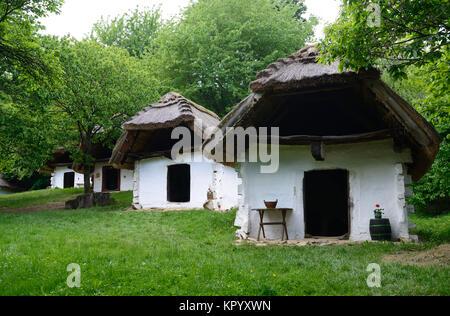 Wine cellars of Cak, Hungary - Stock Photo