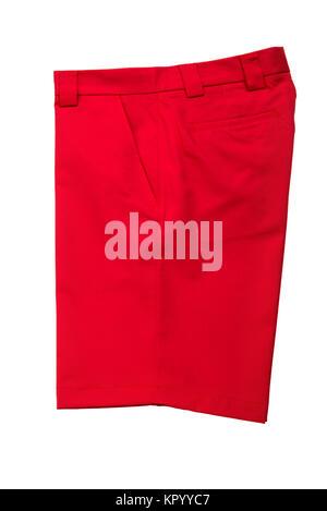 Short Red Pants for Men - Stock Photo