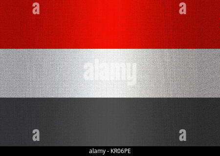 Flag of Yemen on stone - Stock Photo